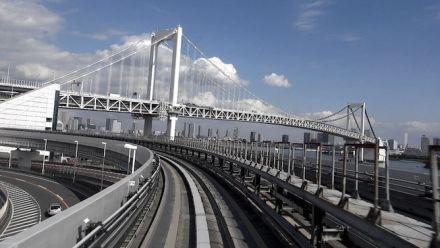 vid�o : Tokyo Street View : Tokyo Daiba vers Shimbashi (ligne Yurikamome)
