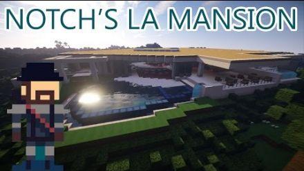 La maison de Notch récréée dans Minecraft