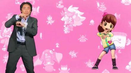 Yo-Kai Watch présenté par Satoru Shibata avec une petite danse