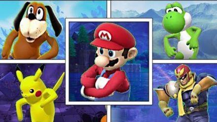 Vidéo : Fortnite : Les personnages de Smash Bros. font la danse par défaut