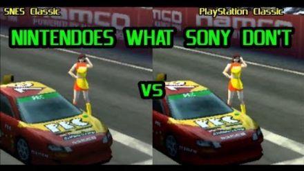 Vidéo : Ridge Racer Type 4 : PlayStation Classic vs Super Nintendo Mini
