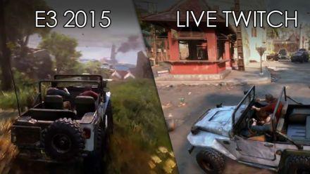 Uncharted 4 : comparatif démo E3 2015 vs démo Twitch