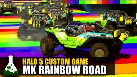 Vid�o : Halo 5 : La Rainbow Road de Mario Kart recréée
