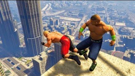Grand Theft Auto V : John Cena, Brock Lesnar et Randy Orton sèment la terreur