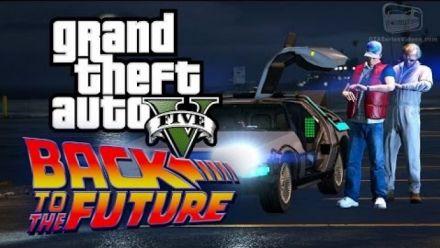 GTA 5 : Hommage à Retour vers le Futur