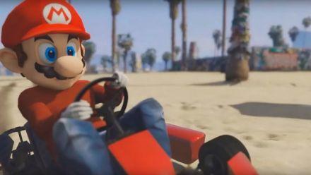 Mario Kart dans GTA V : le fan clip