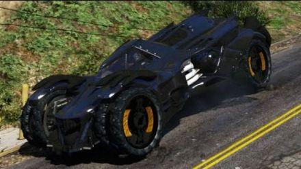 GTA 5 : La Batmobile d'Arkham Knight sème le chaos dans Los Santos
