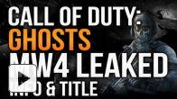 Call of Duty Ghosts : infos et nom dévoilés ?