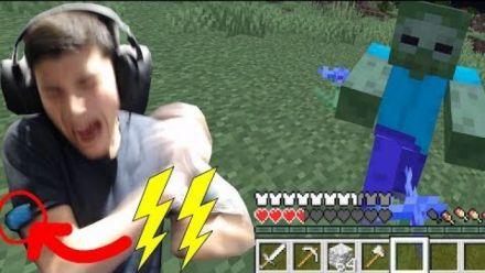 Minecraft : Il se fait électrocuter à chaque dégât subi in-game