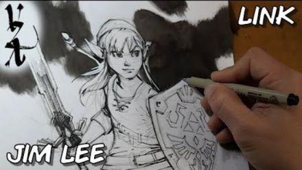 Vidéo : Link de The Legend of Zelda dessiné par Jim Lee (DC Comics)