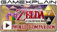 Zelda Between Worlds Vs Link to the Past : le comparatif vidéo