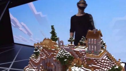 Minecraft HoloLens démo E3 2015