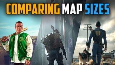 Comparaison des maps de The Division / GTA 5 / Fallout 4