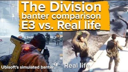 The Division comparaison E3 vs Vie réelle