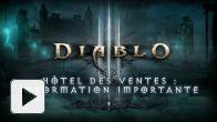 Diablo III - Annonce de la suppression de l'hôtel des ventes
