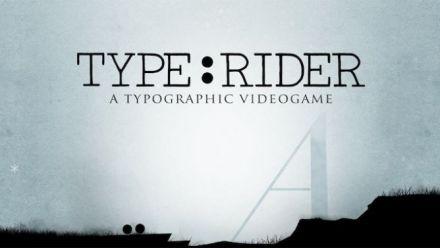 Vid�o : Type:Rider : Un jeu vidéo typographie