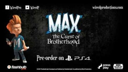 Vid�o : Max The Curse of Brotherhood : Bande-annonce version PS4