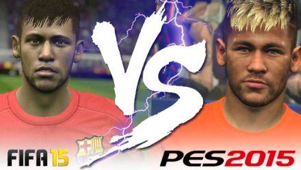 vidéo : PES 2015 vs FIFA 15 : comparatif de 11 visages de stars en vidéo