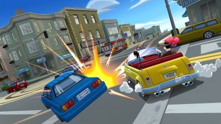 vidéo : Craxy Taxi City Rush : Vidéo de Gameplay (Downtown District - Mission 3)