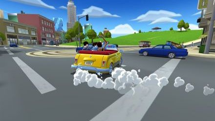 vidéo : Craxy Taxi City Rush : Vidéo de Gameplay (Downtown District - Mission 1)