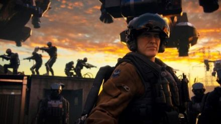Bruce Campbell dans CoD Advanced Warfare Exo Zombies Carrier