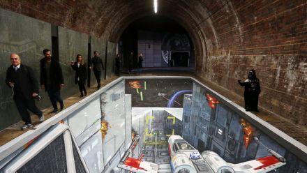 Vid�o : Trompe l'oeil Star Wars dans les rues de Londres