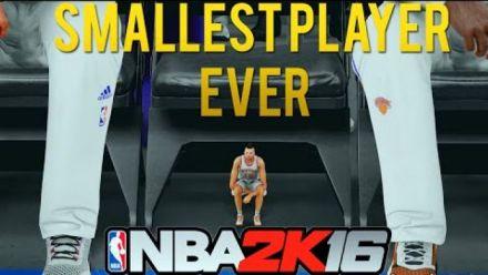 NBA 2K16 - Le joueur le plus petit du monde
