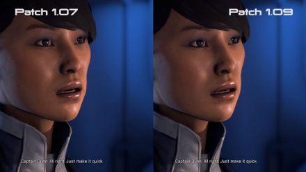 Vid�o : Mass Effect Andromeda, le comparatif des expressions faciales après le patch 1.09