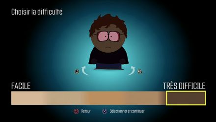 Vid�o : South Park L'Annale du Destin : Choix de la difficulté