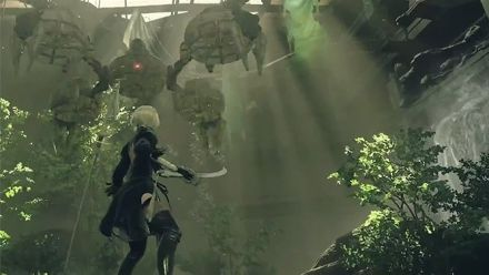 E3 2016 : NieR Automata, combat contre un boss