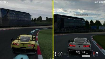 Forza 7 et GT Sport en comparatif