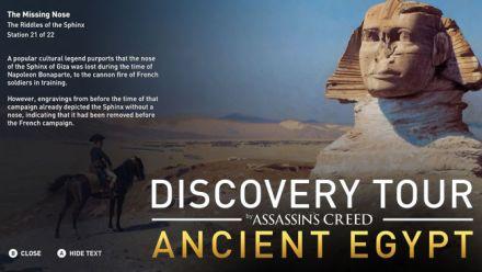 "Vid�o : Découverte du ""Discovery Tour"" d'Assassin's Creed Origins"