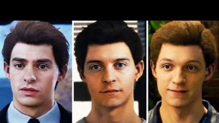 Tobey Maguire, Tom Holland And Andrew Garfield in Marvel's Spider-Man