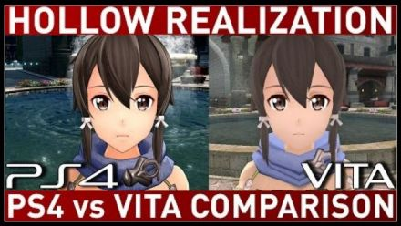 Vid�o : Sword Art Online : Hollow Realization - Comparaison version PS4 et PS Vita