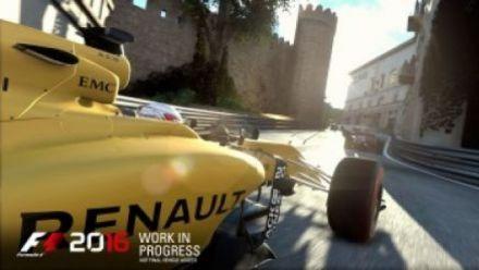 F1 2016 : Ricciardo sur le circuit de Baku F1