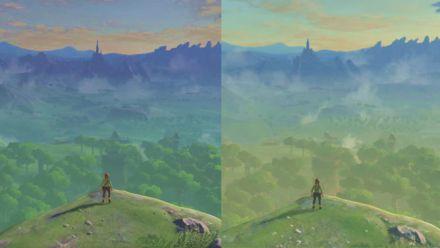Vid�o : Zelda Breath of the Wild : Comparatif des versions Wii U et Switch