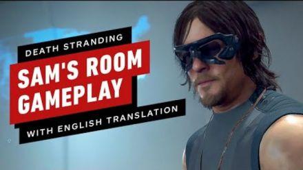 Death Stranding : Gameplay chambre de Sam TGS 2019 sous-titré en anglais