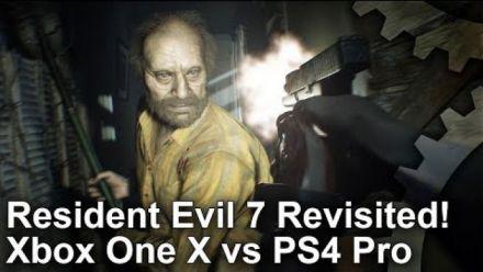 Resident Evil 7 : Les versions Xbox One X et PS4 Pro comparées