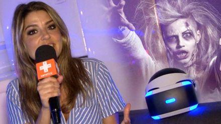 Vid�o : Carole joue à Here they lie sur PlayStation VR... et frôle la crise cardiaque !