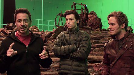 Avengers Infinity War : Iron Man, Spider-Man et Star-Lord fêtent le début du tournage en vidéo
