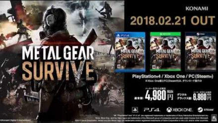 Metal Gear Survive : Vidéo de gameplay novembre 2017