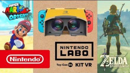 Vidéo : Super Mario Odyssey : Vidéo réalité virtuelle Nintendo Labo