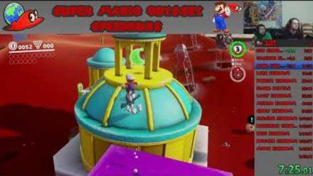 Vid�o : Super Mario Odyssey : 1er speedrun any % 1h25