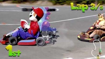 Vidéo : REAL LIFE Mario Kart - Super Rowdy Kart (Vidéo de Kyle Busch)