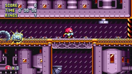 Vid�o : Sonic Mania : Séquence de gameplay avec Knuckles dans Flying Battery Zone