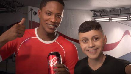FIFA 18 : Publicité Coca-Cola avec Alex Hunter