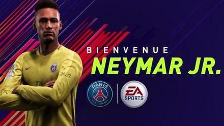 FIFA 18 souhaite la bienvenue à Neymar Jr. au PSG