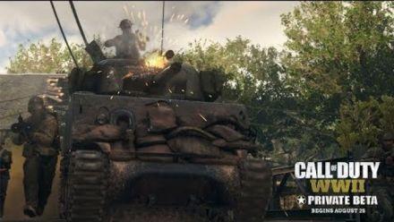 Gamescom : Beta privée de Call of Duty WWII en Vidéo