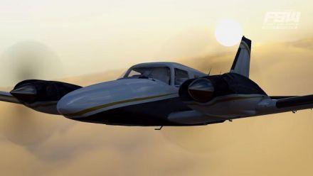 Vid�o : Flight Sim World : La MAJ 8 avec les nuages TrueSky