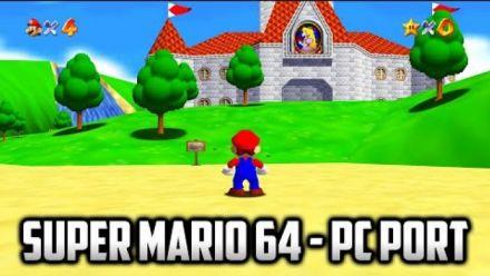 vidéo : Super Mario 64 : Vidéo de gameplay du portage PC